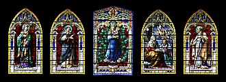 Las Palmas - Windows of Santa Ana cathedral, Las Palmas de Gran Canaria
