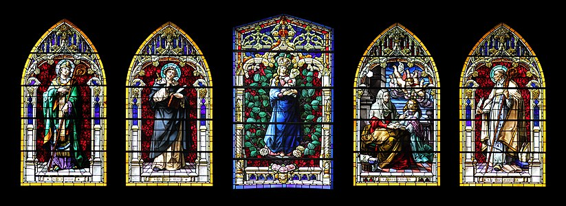 Conspectus of the figured windows of the Cathedral Santa Ana, Las Palmas de Gran Canaria