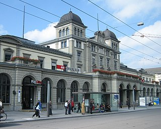 principle railway station in the city of Winterthur, canton of Zürich, Switzerland