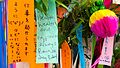 Wishes on small pieces of paper hung on during Tanabata festival; 2014.jpg