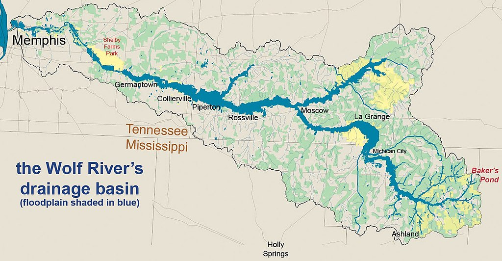 wolf river mississippi map File Wolf Watershed Annt Jpg Wikimedia Commons wolf river mississippi map