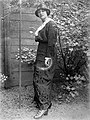 Woman, hat, garden, fashion, lady Fortepan 4290.jpg