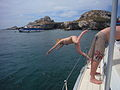 Woman diving off a boat into the sea-13March2009.jpg