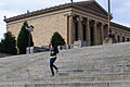 Woman running down Rocky Steps (6308164330).jpg