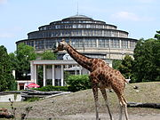 Wroclaw zoo and centennial Hall.JPG
