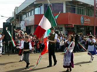 Immigrant's Festival - Italian Argentines performing during the celebrations.