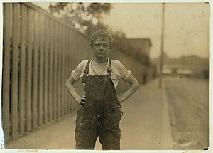 National Child Labor Committee - Young worker in a Merchants Mill