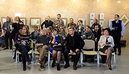 Yury Yakovenko's exhibition in Minsk - National Library of Belarus 30.10.2014 - 03.JPG