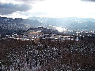 Ústí nad Labem - Image: Z Erbenovy vyhlídky, směr Střekov (01)