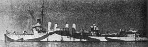 USS Cowell (DD-167) - Soviet destroyer Zharkiy