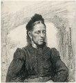 Zittende vrouw met kanten muts (betekende reproductie) PK-T-AW-3623, PK-T-1287.tiff