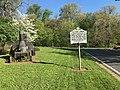 """Elk Ridge Landing"" roadside historic marker, Washington Boulevard and Old Washington Road (southwest corner), Baltimore, MD 21075 (32784922857).jpg"