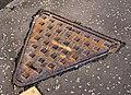 """Hartlid"" manhole cover, Bangor - geograph.org.uk - 2257539.jpg"
