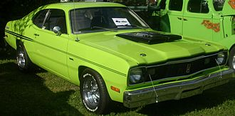 Plymouth Duster - 1975 Plymouth Duster, with non-OEM wheels and tires