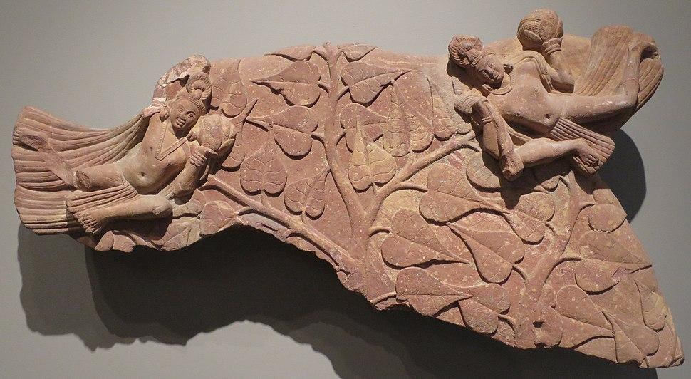 'Nimbus Fragment with Celestials and Bodhi Tree', Norton Simon Museum