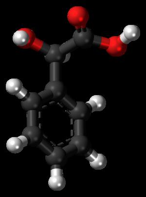 Mandelic acid - Image: (R) Mandelic acid molecule ball