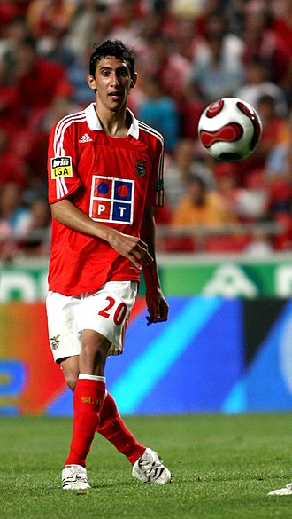 Ángel Di María - Di María with Benfica in 2007