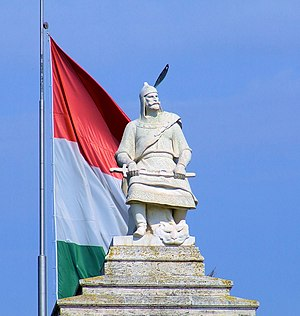 Árpád dynasty - Statue of Árpád at the Ópusztaszer National Heritage Park, Hungary