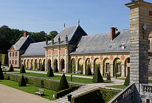 south wing of the former stables of Château de...