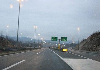 A1 (Croatia) - The A6 motorway branching off in Bosiljevo 2 interchange