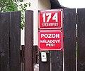 Štěchovice 174, pozor náladový pes.jpg