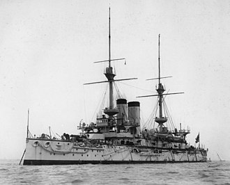 Japanese battleship Asahi - Asahi on completion in 1900