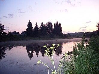 Zavyalovsky District, Udmurt Republic - A pond in the village of Kolyushevo in Zavyalovsky District