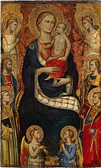 Madonna and Child, Four Saints and Four Angels