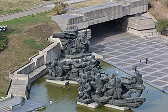 "National Museum of the History of Ukraine in the Second World War - The monument ""Crossing of the Dnieper"""