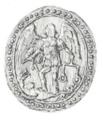 Міська печатка Клеваня. 1777 рік.png