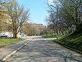 Ул. Научная - проезд между корпусами, спортплощадкой и др. объектами ДНУ, неожиданно получивший статус улицы - panoramio.jpg