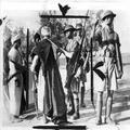 המאורעות בארץ ישראל 1937. חיילים בריטיים של בלק ווטש עורכים חיפוש לנשק על ערב-PHL-1088022.png