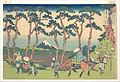 冨嶽三十六景 東海道保土ケ谷-Hodogaya on the Tōkaidō (Tōkaidō Hodogaya), from the series Thirty-six Views of Mount Fuji (Fugaku sanjūrokkei) MET DP141038.jpg