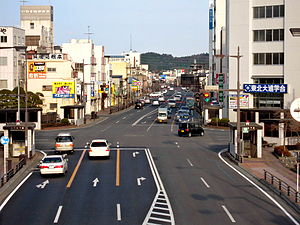 Japan National Route 6 - Route 6 at Fifteenth Chōme in Iwaki