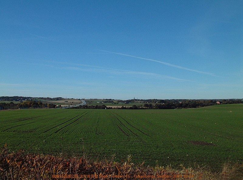 File:瑞典E6高速公路 法尔肯贝里, Falkenbergs - panoramio (1).jpg