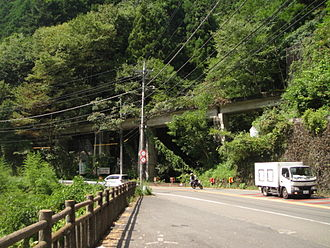 Ōme Line - No. 1 Mizune bridge on the Ogouchi dam line (now Mizune Freight Line)