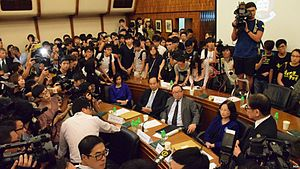 University of Hong Kong pro-vice-chancellor selection controversy - Students storm the conference room on 28 July after the HKU council votes again to delay Chan's appointment