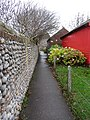 -2018-12-02 Footpath to the side of the Parish council meeting rooms, Back Street, Mundesley.JPG