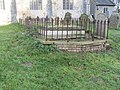 -2020-11-06 Chest tomb with railings, St Bartholomew's, Hanworth, Norfolk.JPG