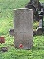-2020-12-28 CWGC gravestone, Major William Arthur Hewitt Hayes, Royal Indian Army Service Corps, Cromer town cemetery.JPG