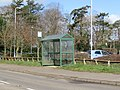 -2021-03-15 Bus stop with shelter, Cromer Road, North Walsham.JPG