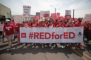 2018–19 education workers strikes in the United States Withdrawal of labor by US teachers, 2018