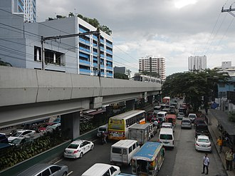Taft Avenue - Taft Avenue looking south in Manila, as viewed from United Nations LRT station.