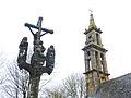 004 Plougastel Clocher et sommet du calvaire chapelle Sainte-Christine.JPG
