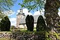 02 Kirche St. Martin mit Steinmauer, Steinbergkirche, Schleswig-Holstein; Blick von der Nordstraße.jpg