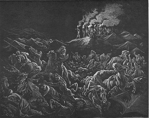 The Midianites Are Routed by Gustave Dore