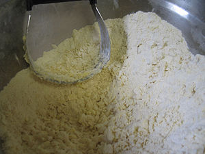 Quick bread - Pie crust is made using the shortening method.