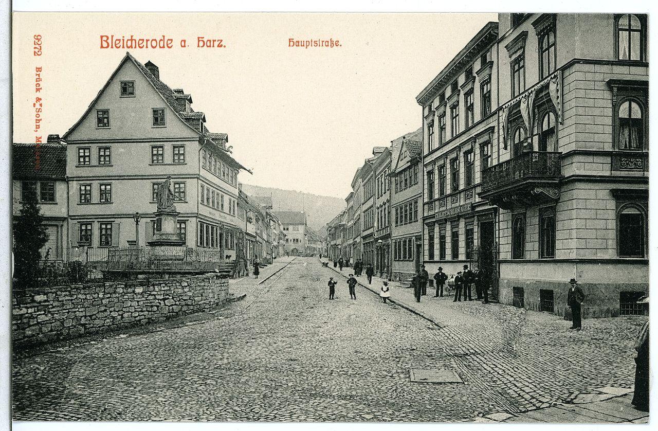 09272-Bleicherode-1907-Hauptstraße-Brück & Sohn Kunstverlag.jpg