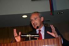 Enrico Boselli, segretario dello SDI e promotore della Costituente Socialista