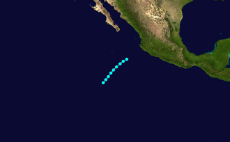1952 Pacific hurricane season - Image: 1 E 1952 track